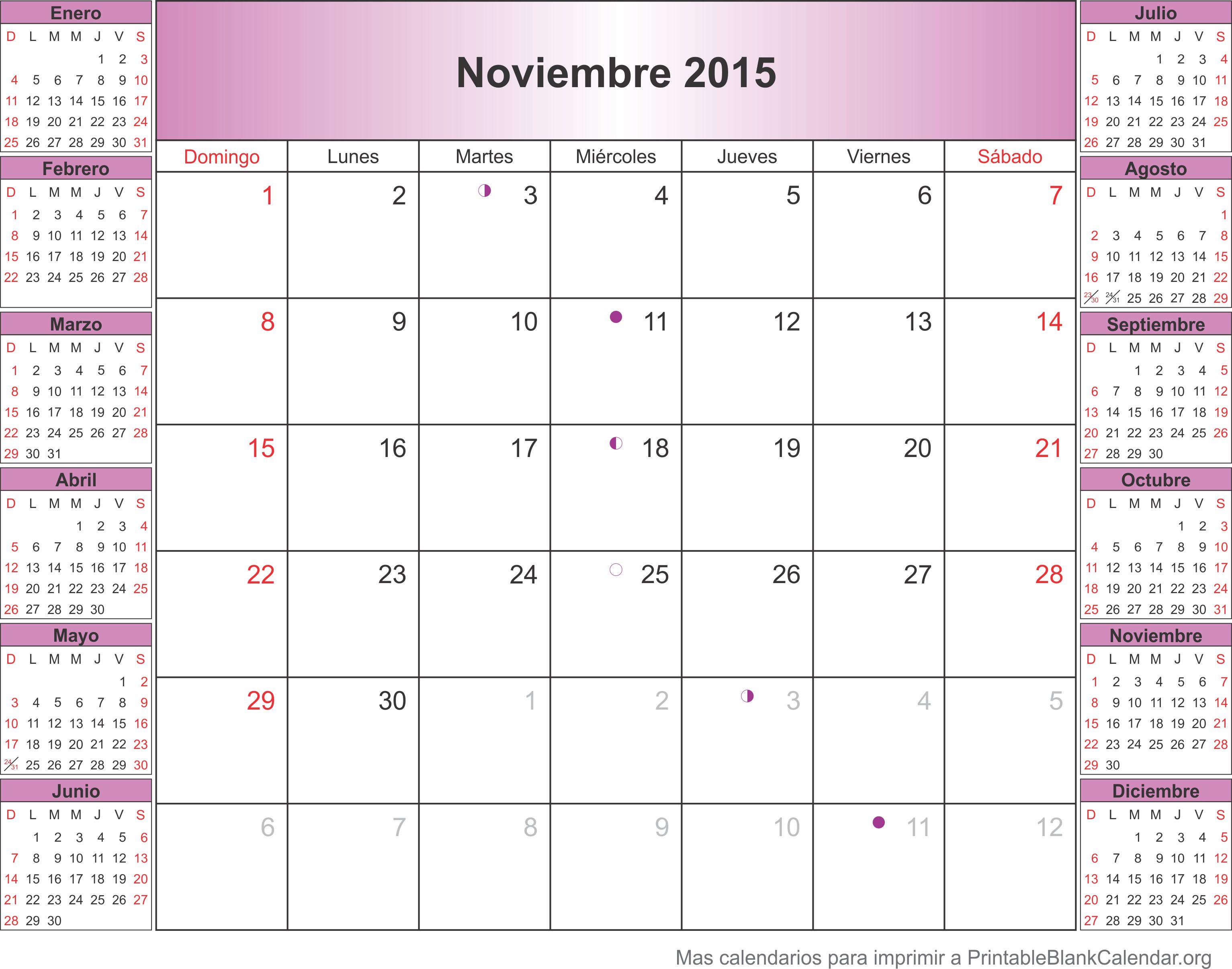 Noviembre 2015 agenda