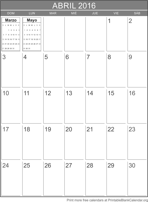 abril 2016 agenda