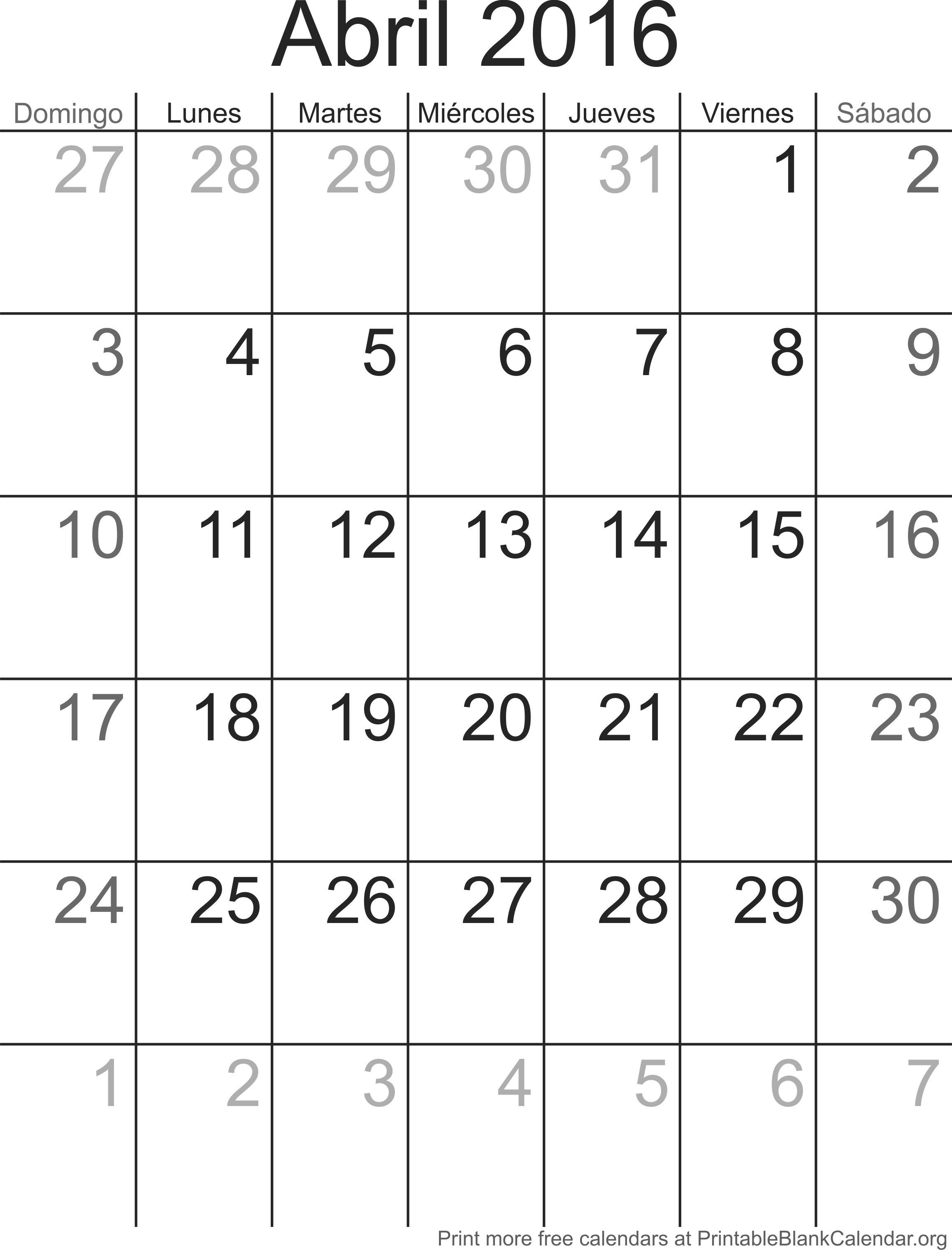 calendario abr 2016