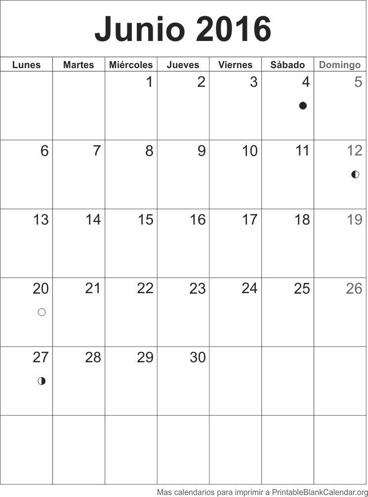 Agenda Junio 2016