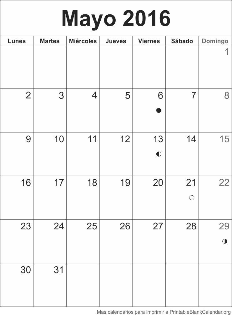 Agenda Mayo 2016