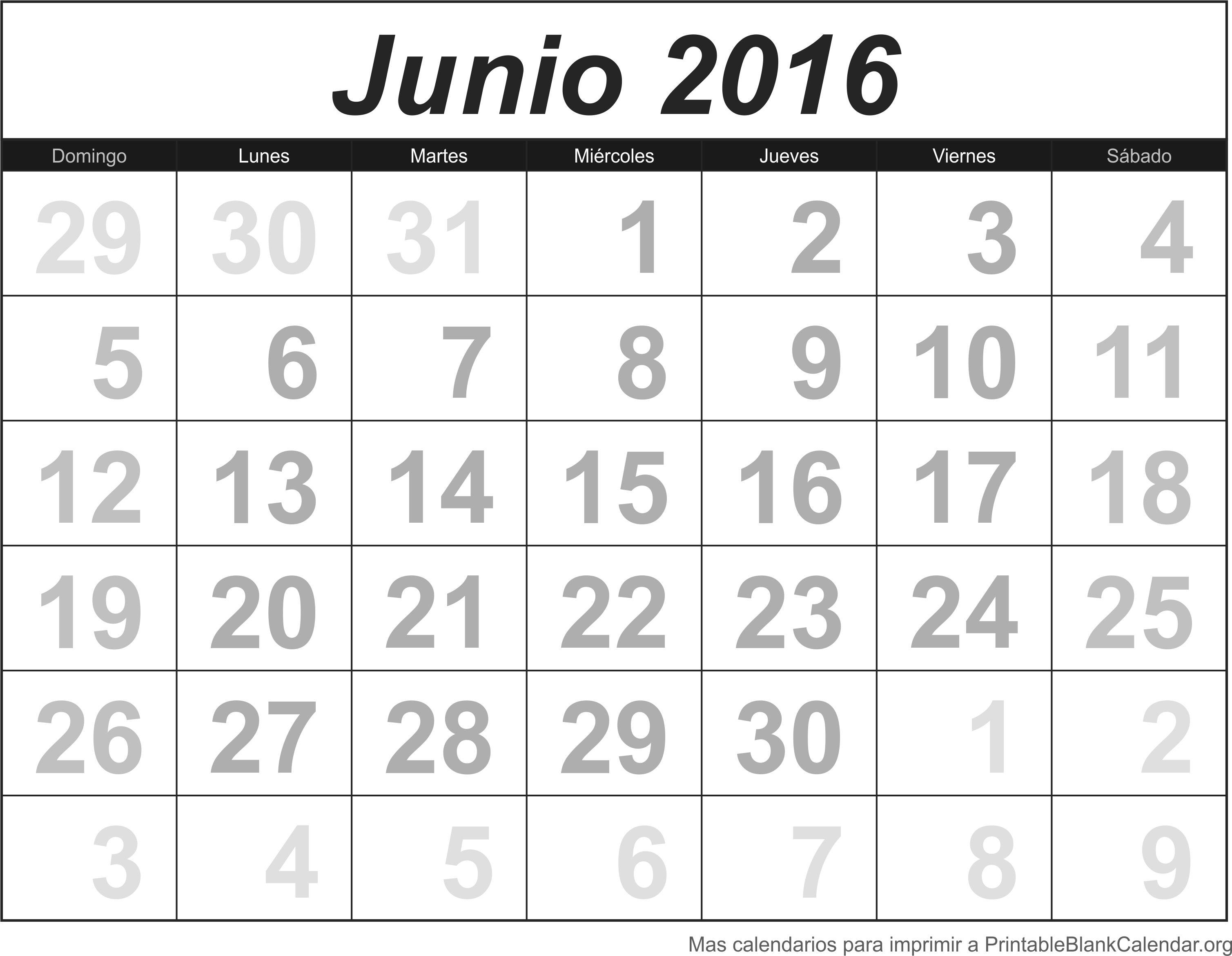 Calendario Jun 2016
