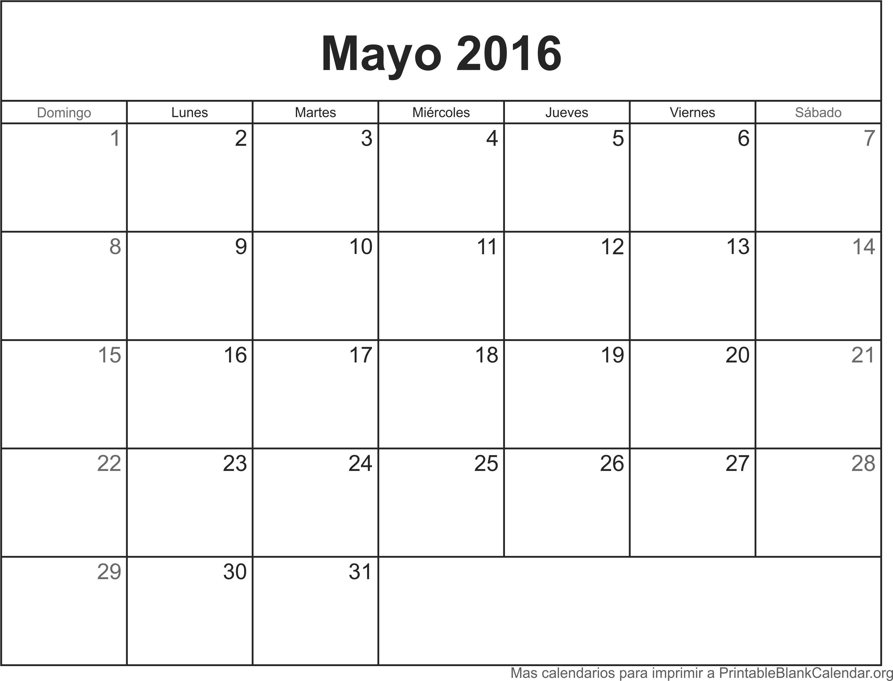 Mayo 2016 agenda