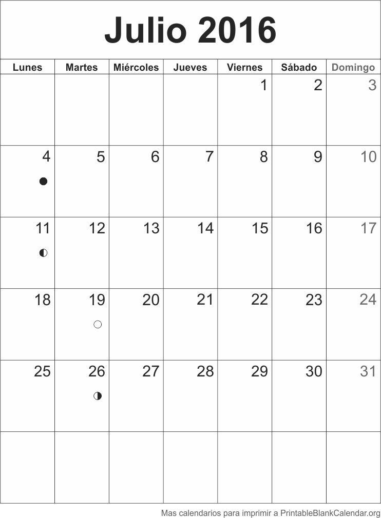 agenda julio 2016