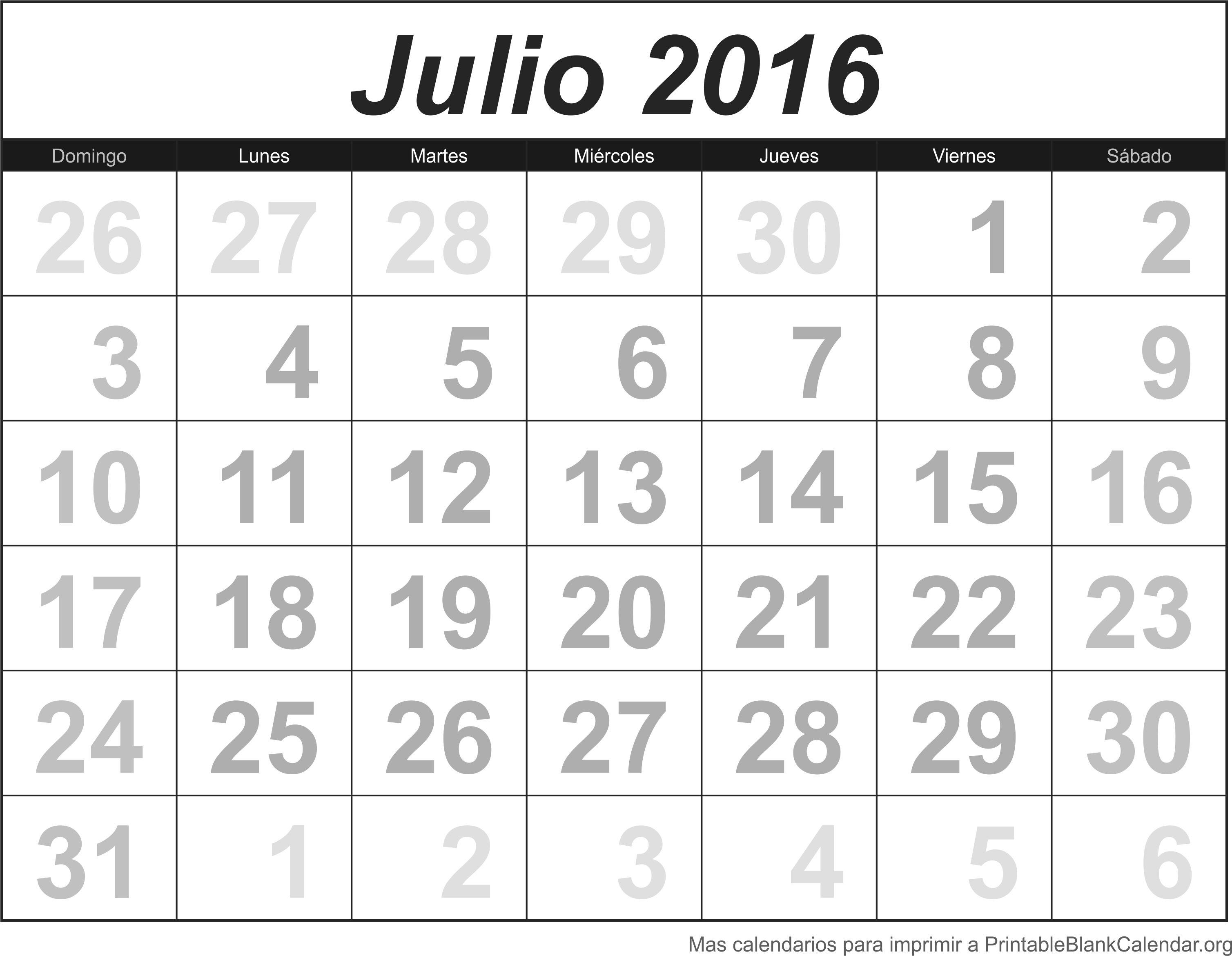 calendario jul 2016