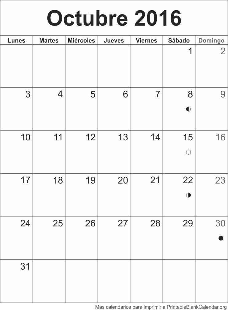 Calendario Oct 2016