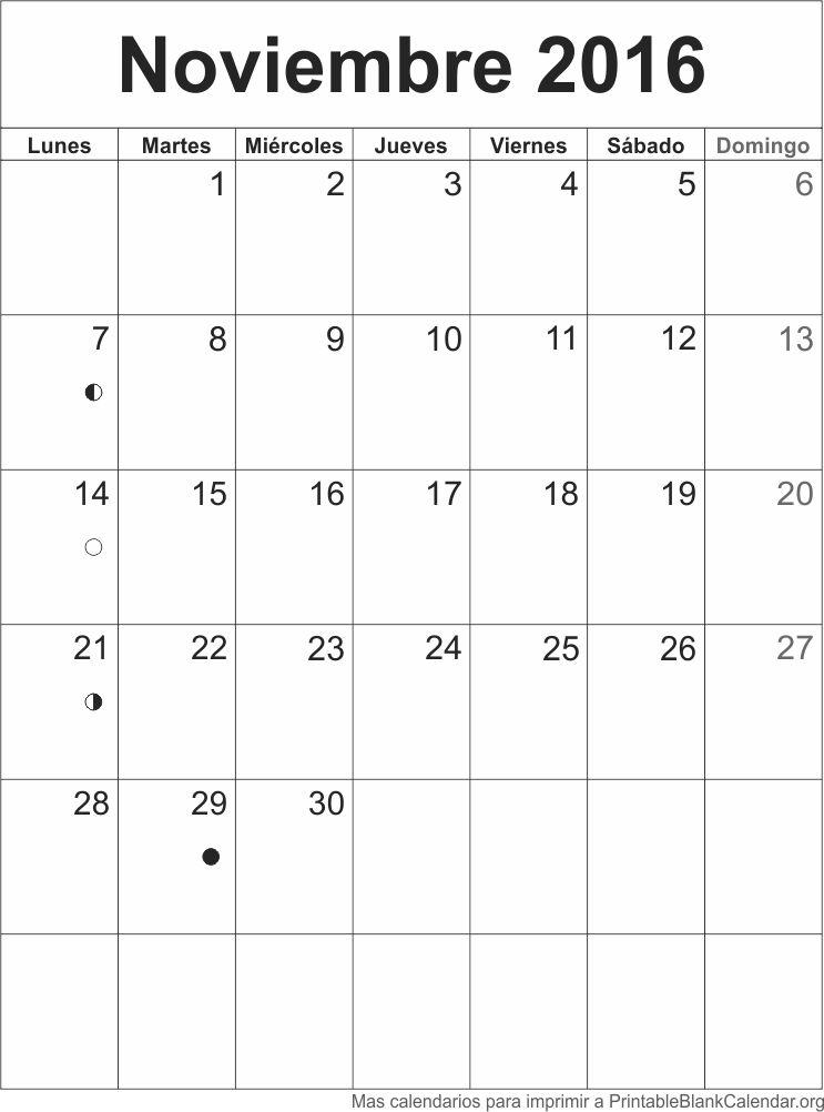 agenda Noviembre 2016