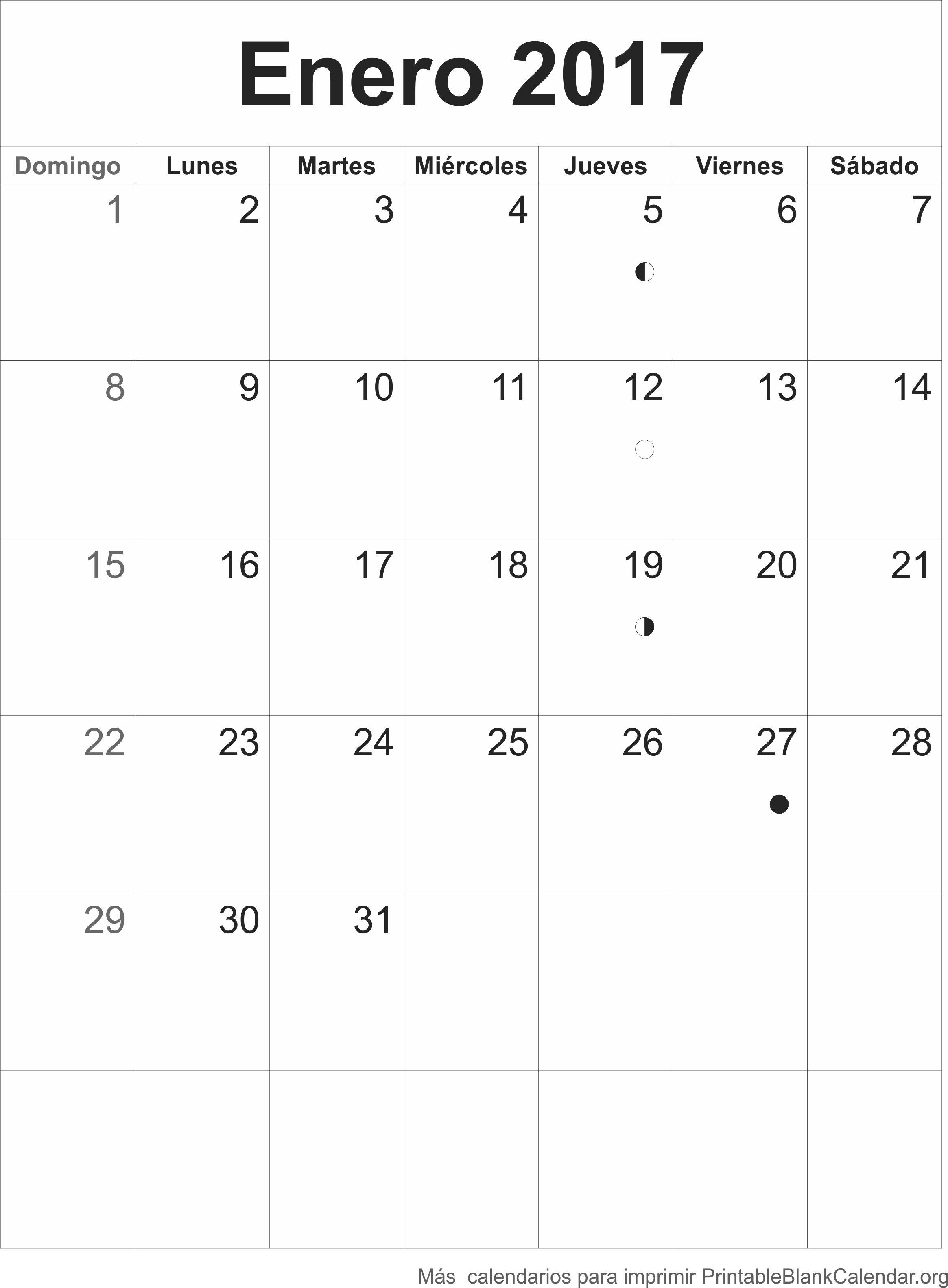 agenda enrero 2017