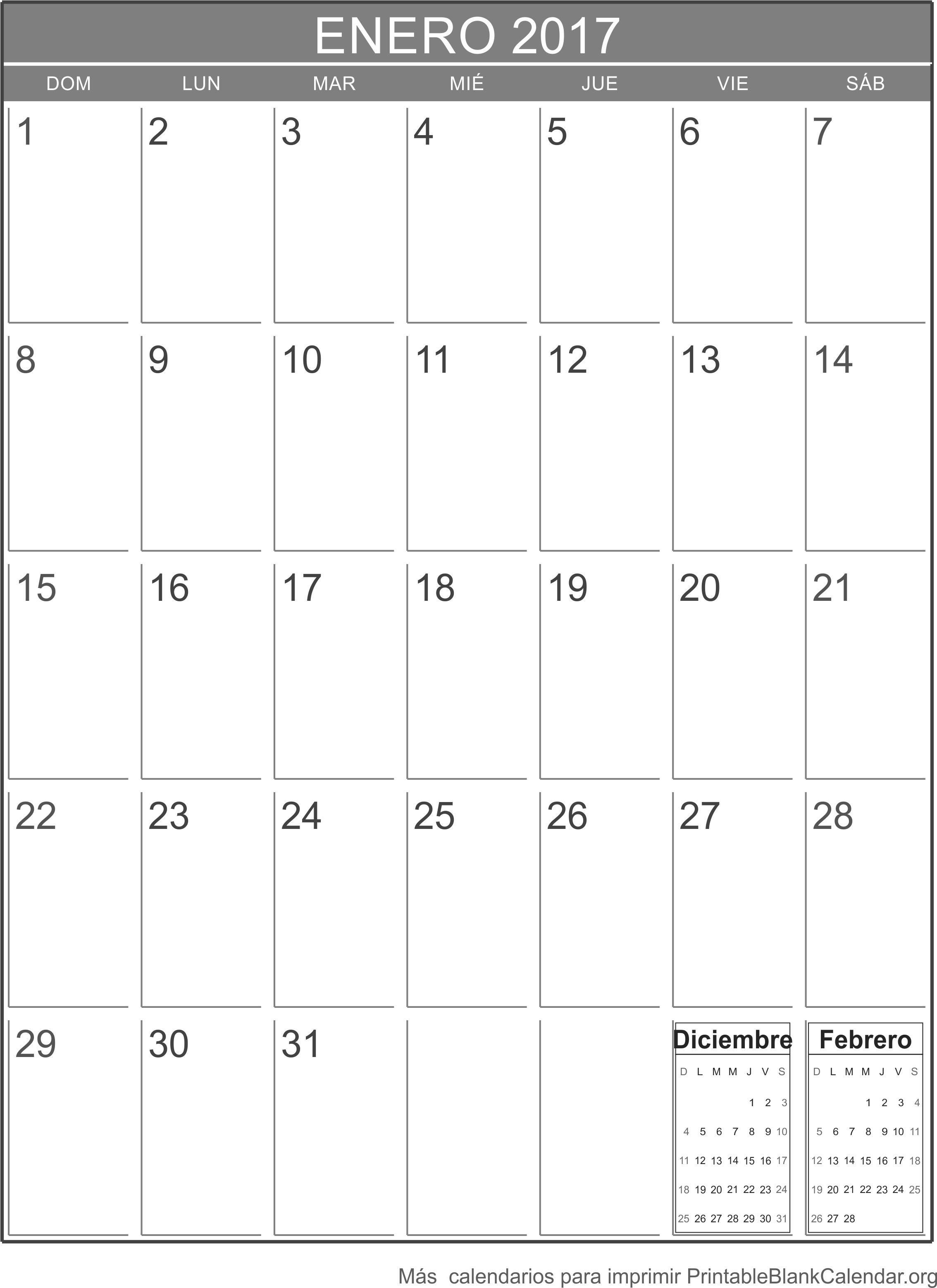 calendario ener 2017