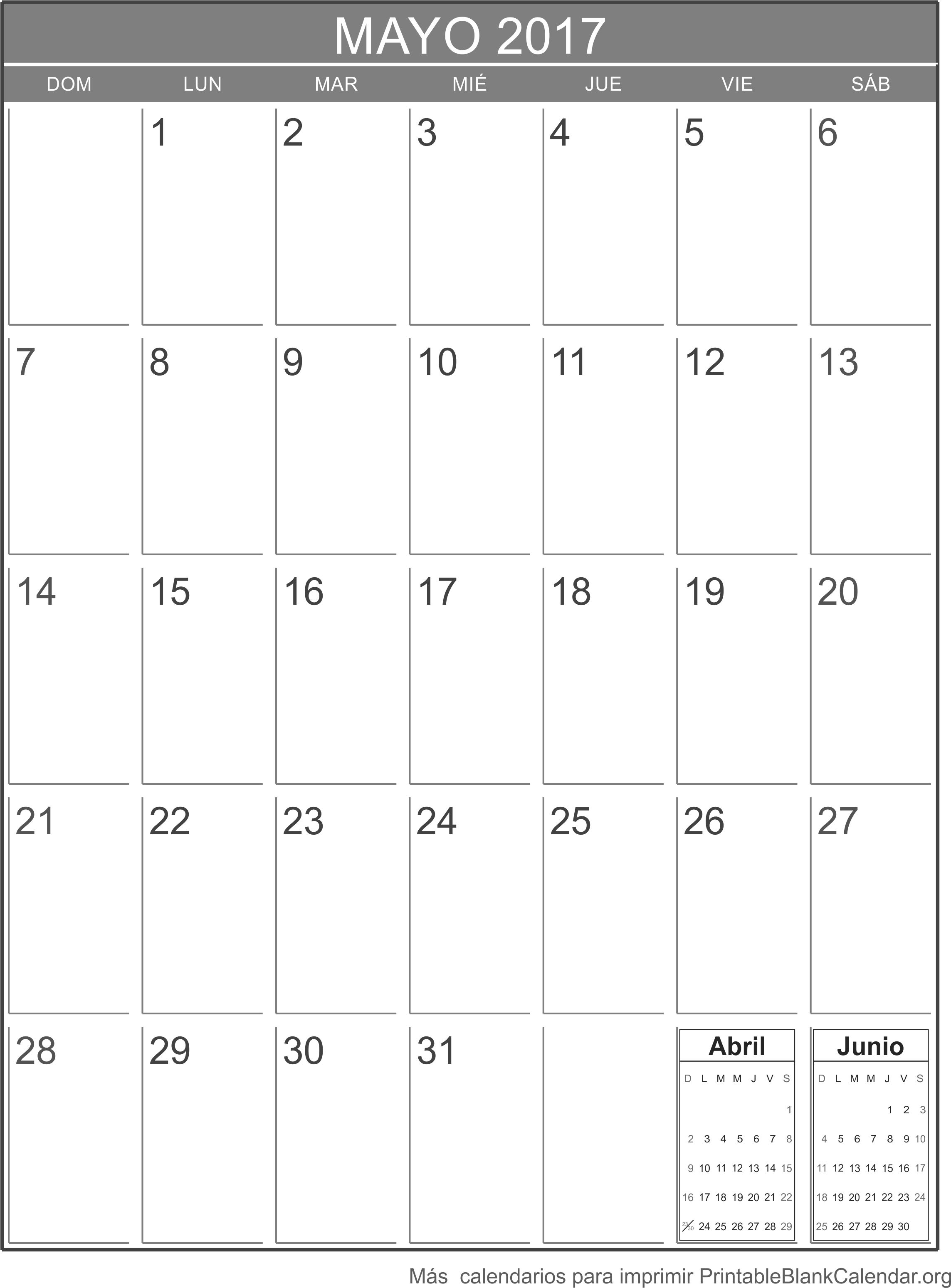 mayo 2017 calendario