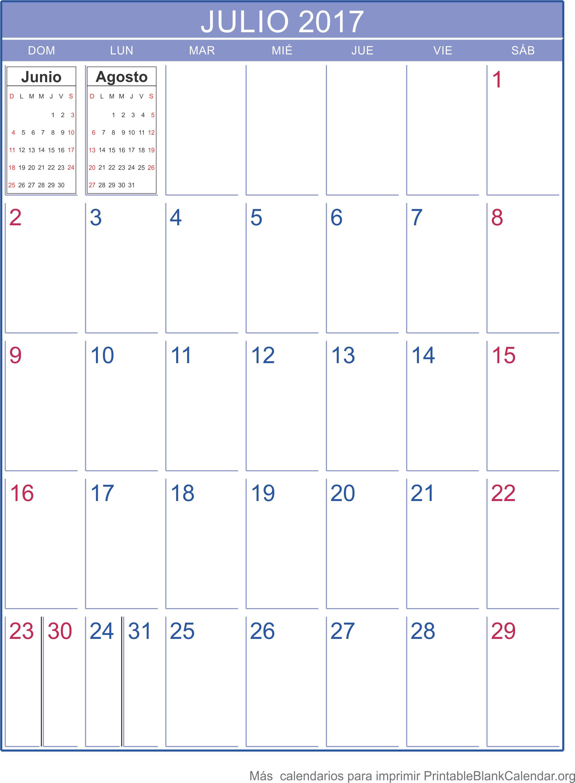 calendario jul 2017