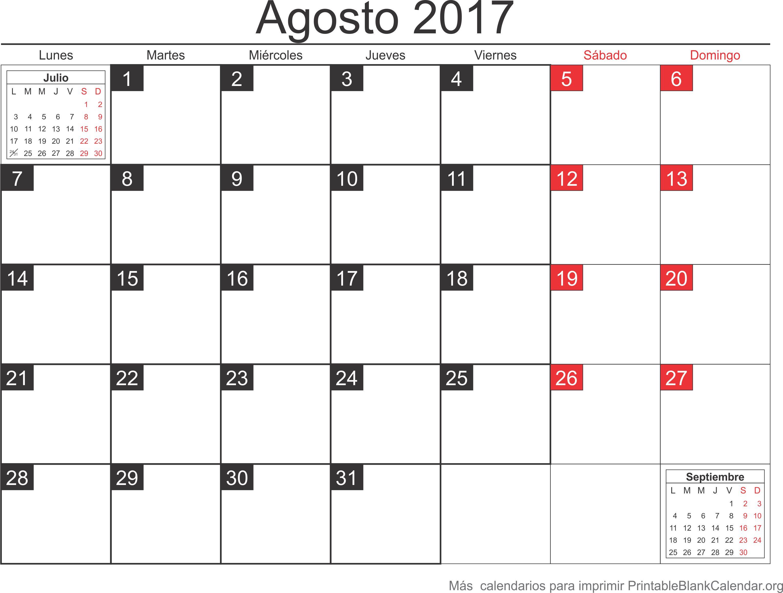 agosto 2017 agenda