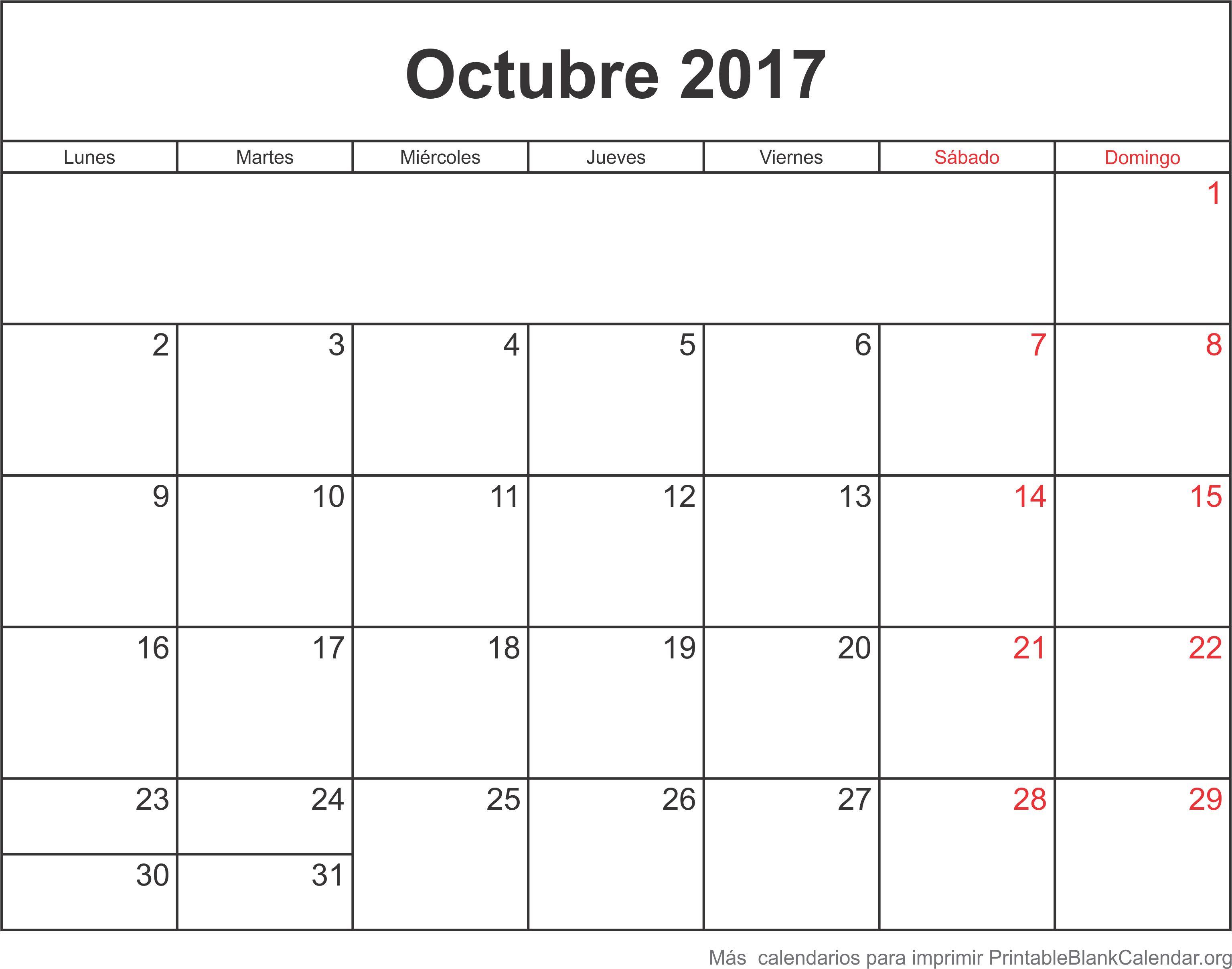 octubre 2017 agenda