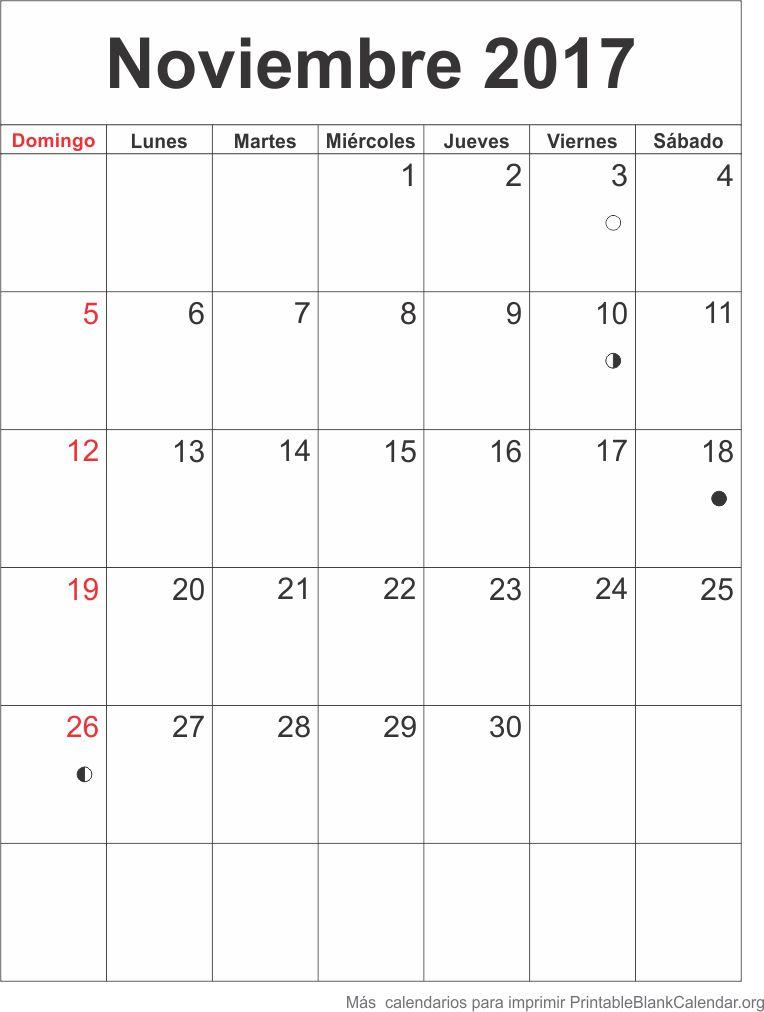 agenda noviembre 2017