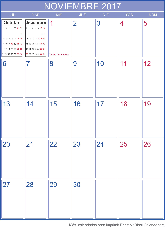 calendario nov 2017