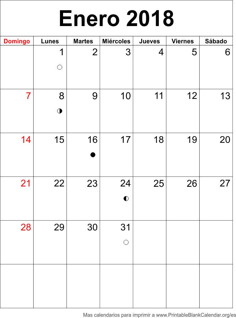 agenda enrero 2018