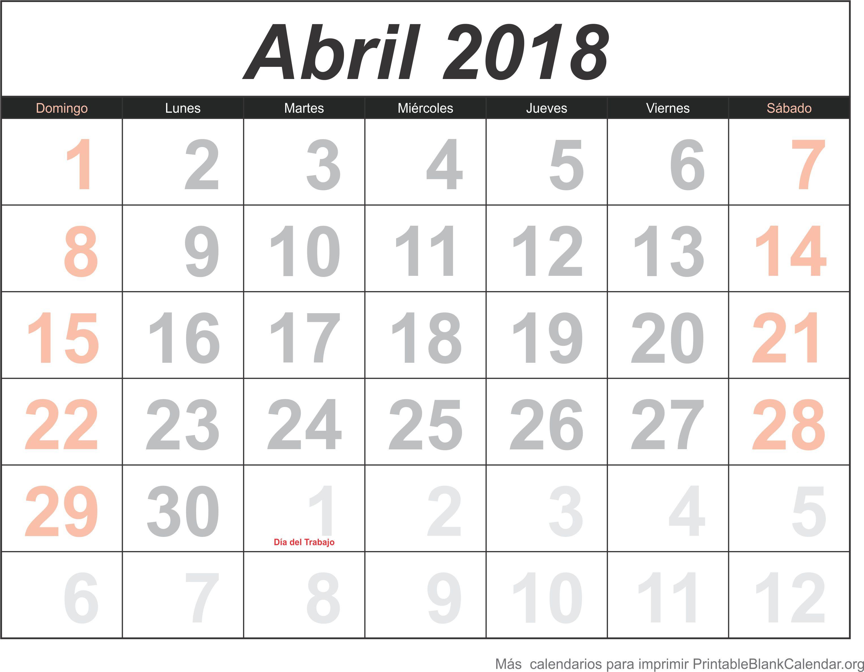 abril 2018 agenda