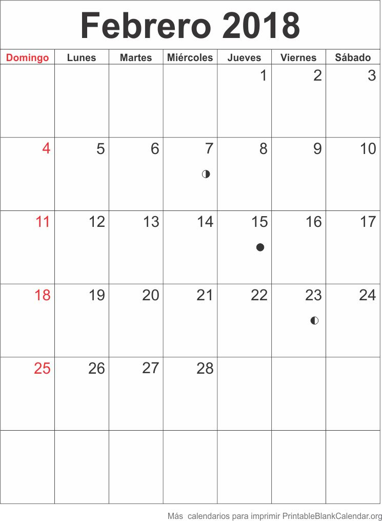 agenda febrero 2018