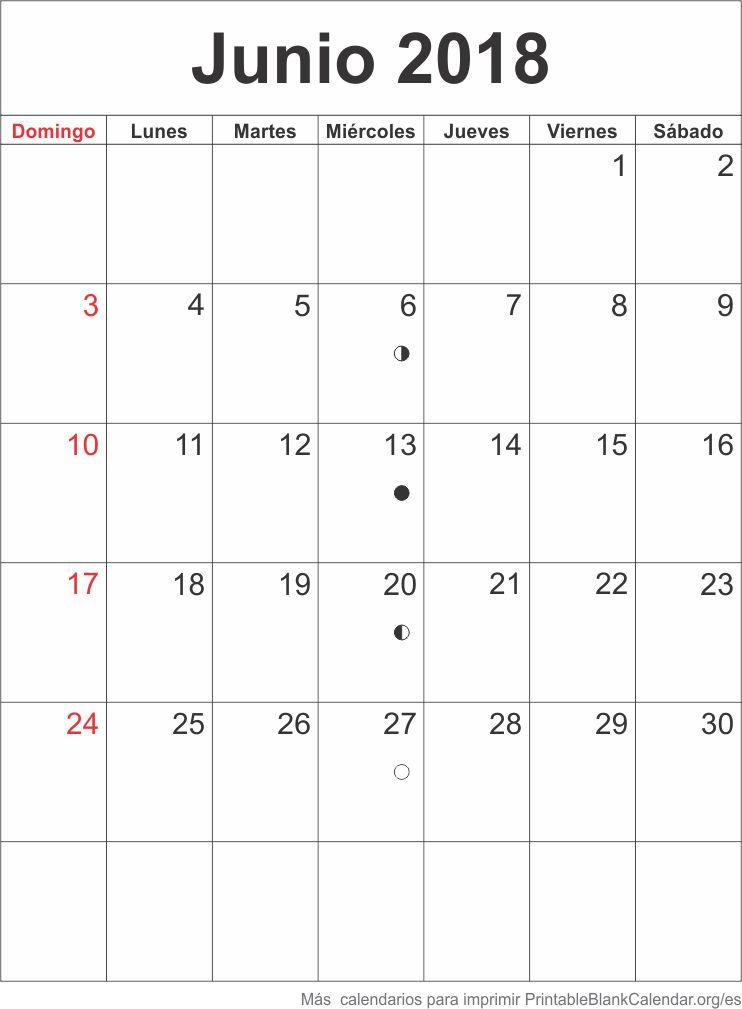 agenda junio 2018