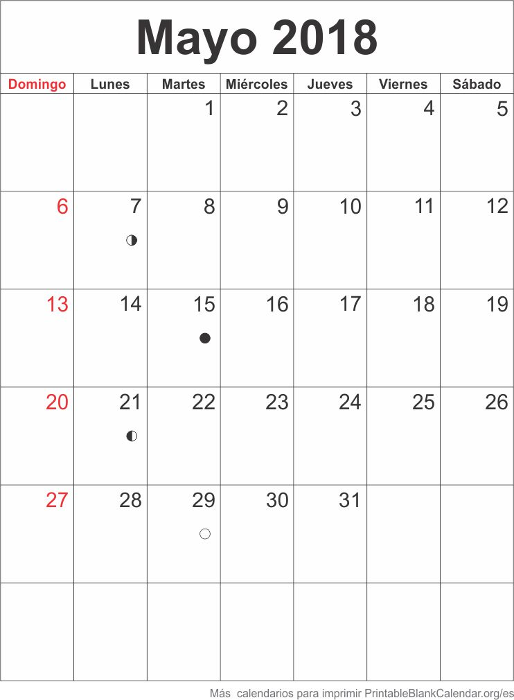 agenda mayo 2018
