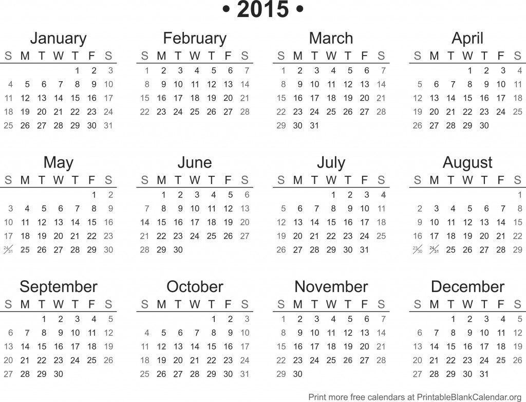 free downloadable 2015 calendar template - 2015 blank calendars to print bing images