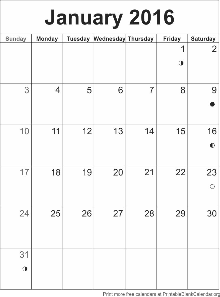 Calendar Templates January : Calendar template january printable blank