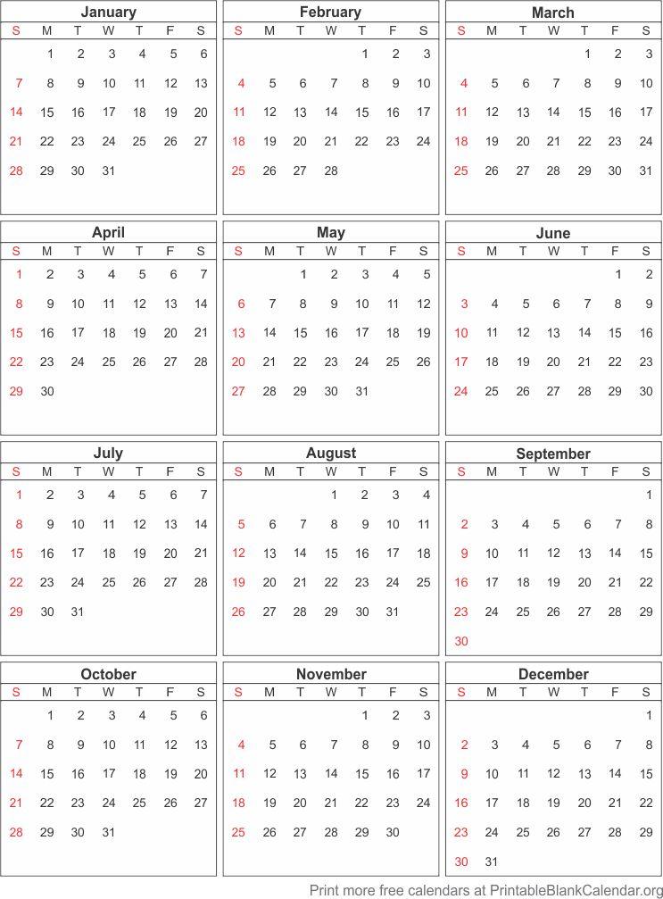 free printable calendar 2018 - Printable Blank Calendar.org