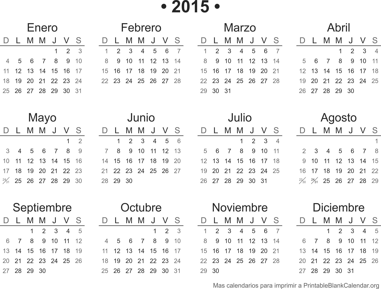 Agenda 2016 para imprimir