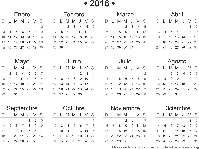 Agenda 2016 para imprimir1