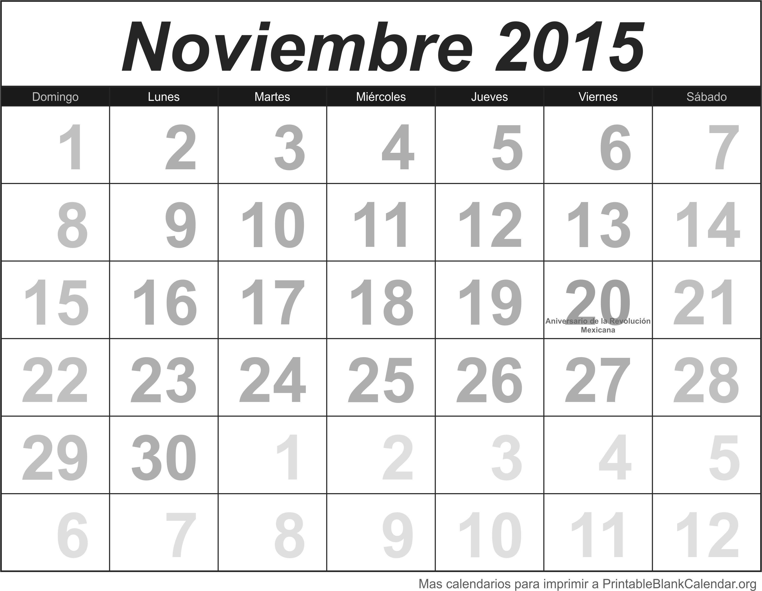 Nov 2015 calendario