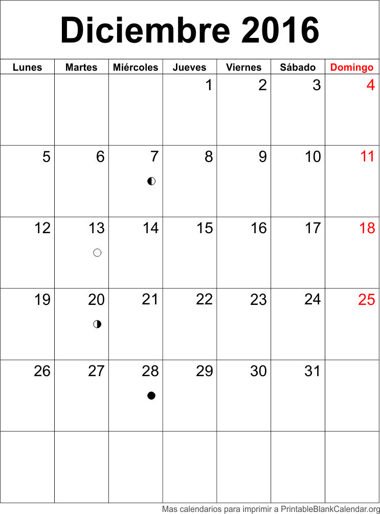 agenda deciembre 2016