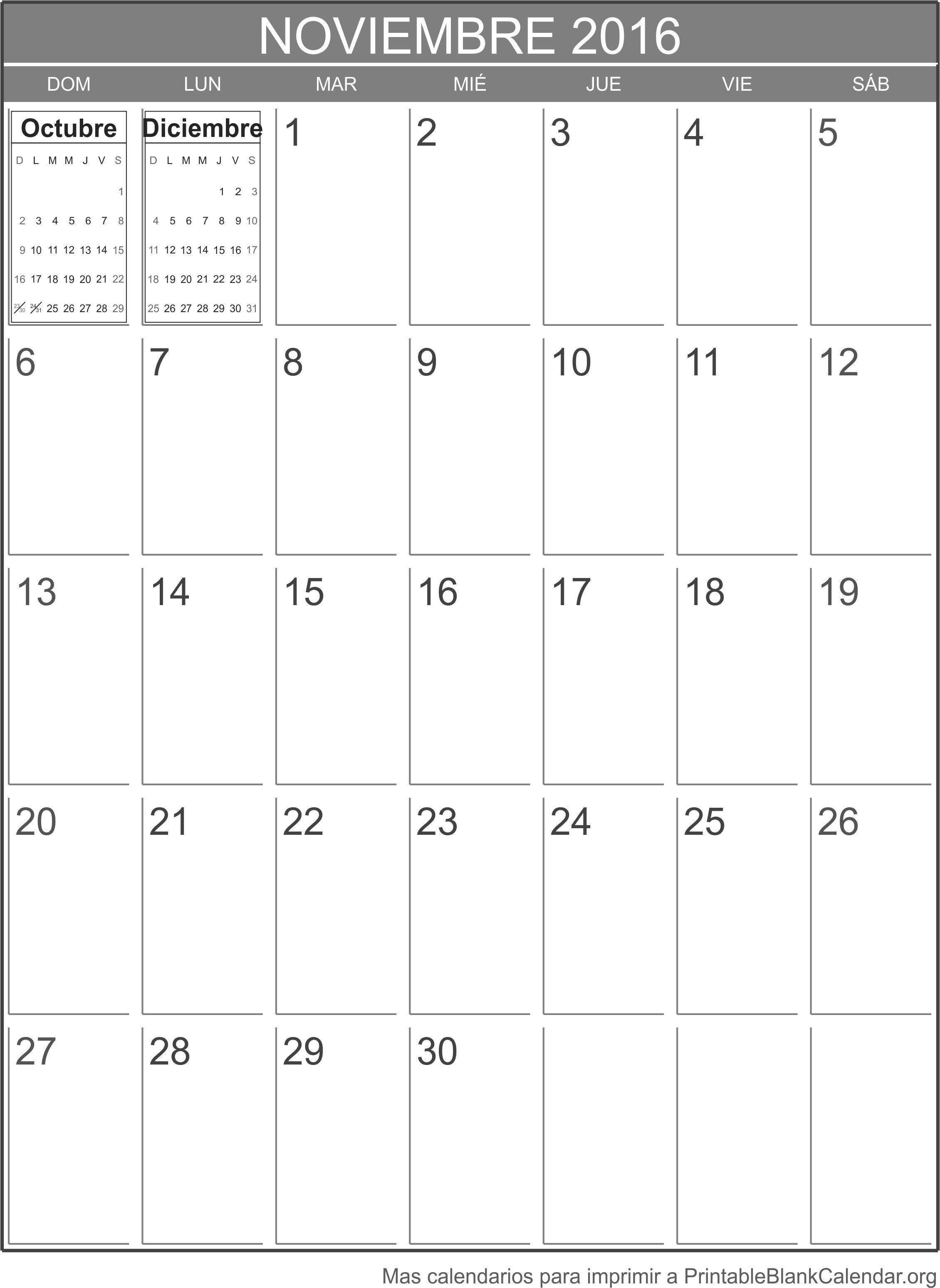 noviembre 2016 agenda