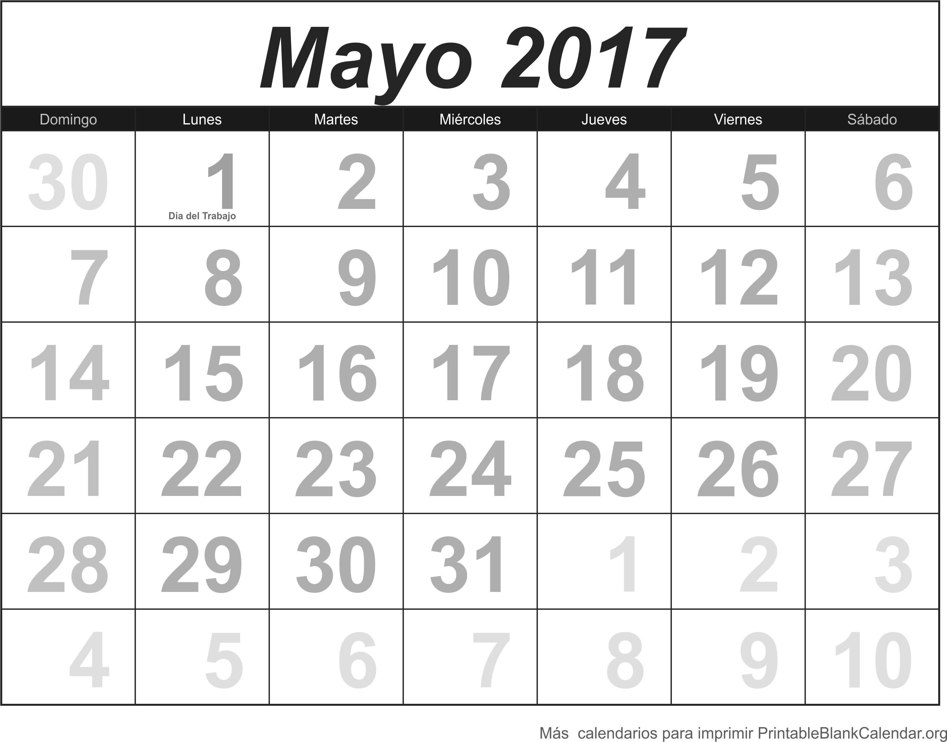 calendario may 2017