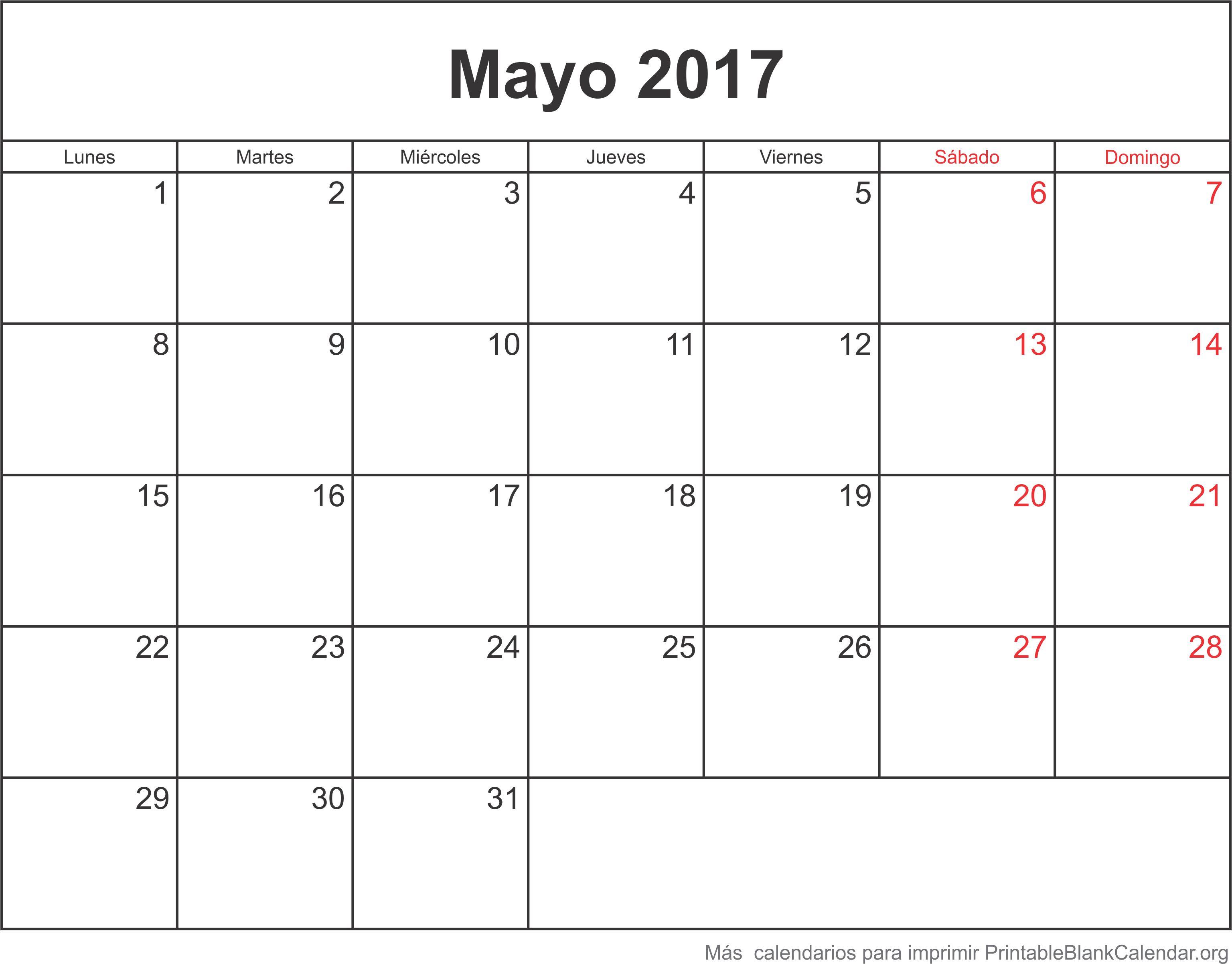 mayo 2017 agenda