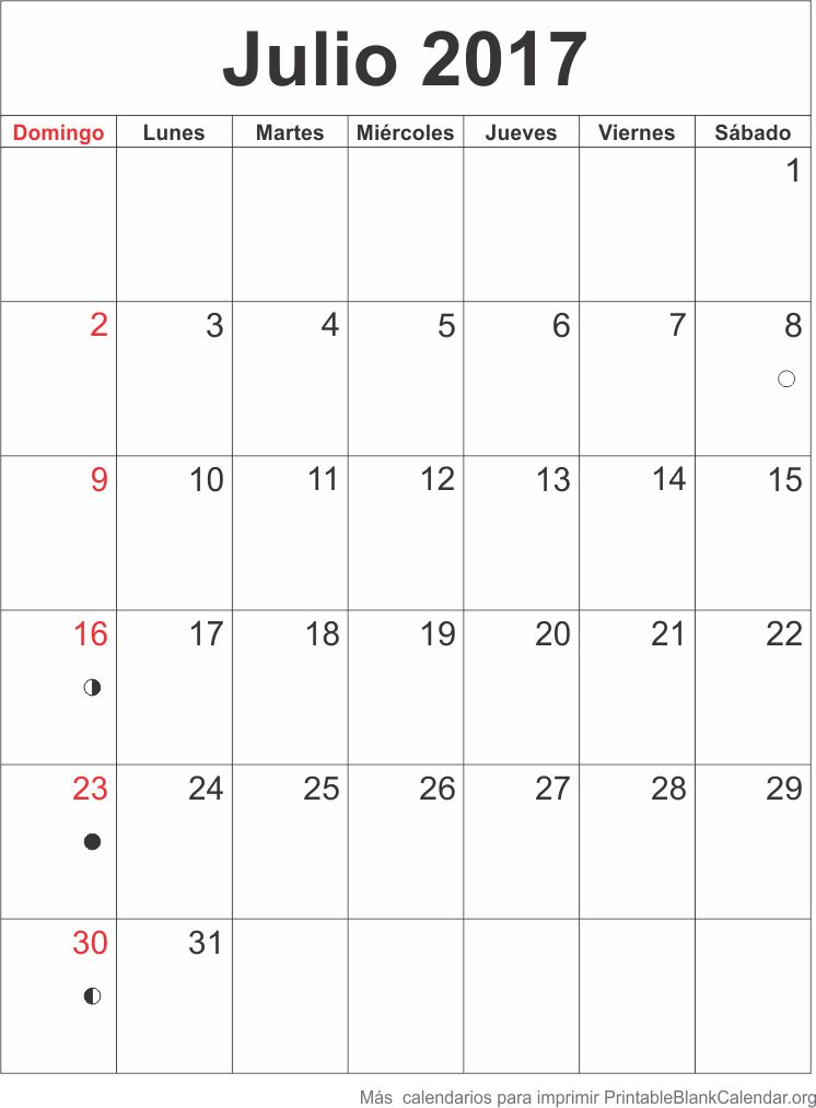 agenda julio 2017