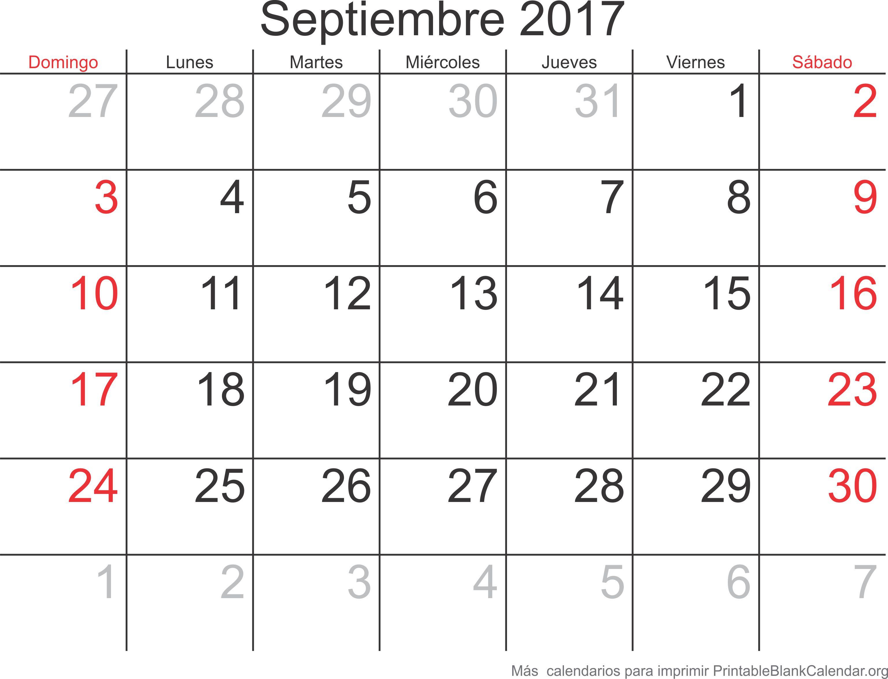 sep 2017 calendario