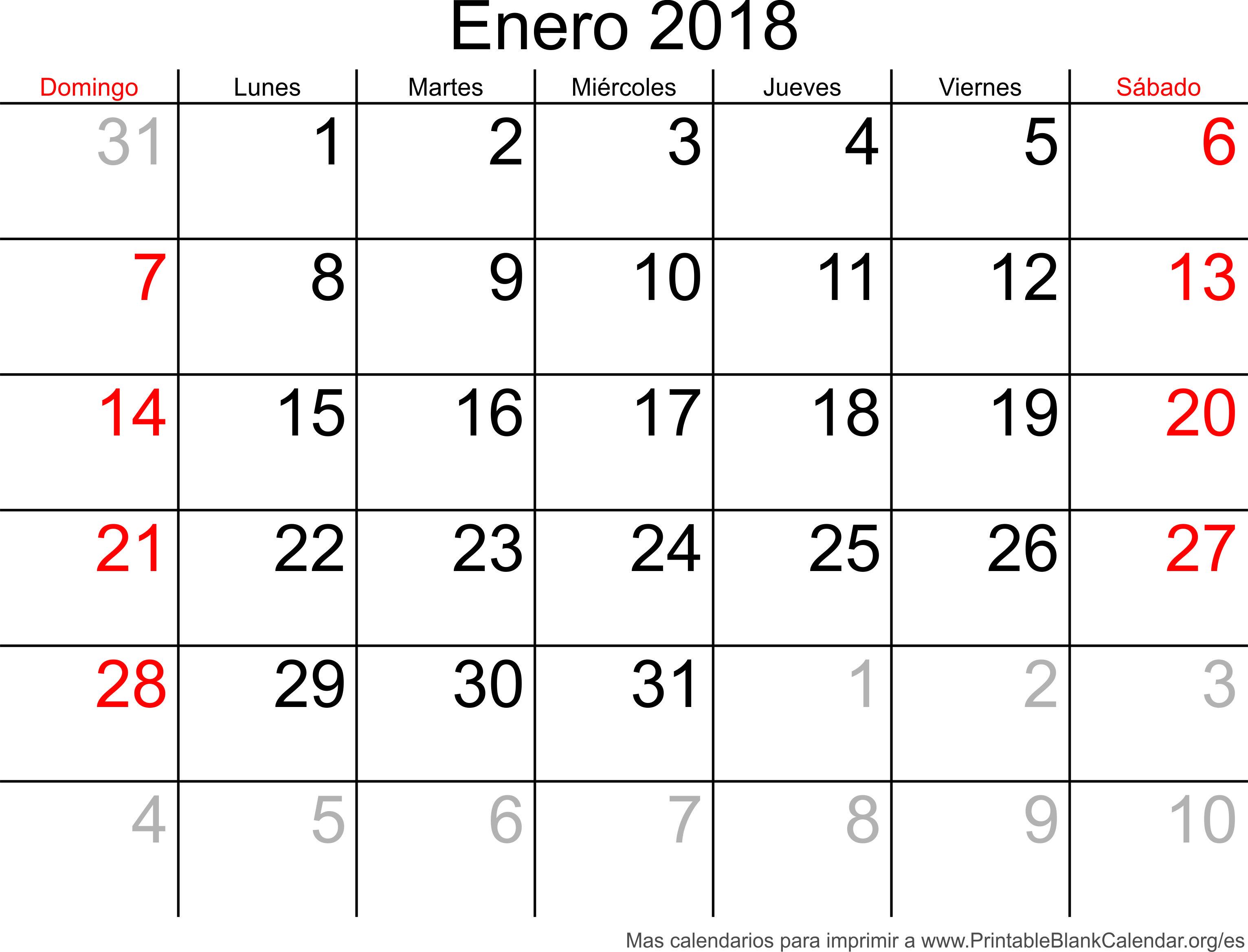 enero 2018 agenda
