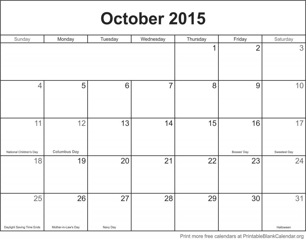 october 2015 printable calendar printable blank calendarorg